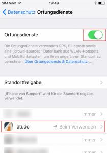 iPhoneOrtungsdienste