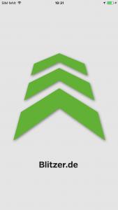 Startscreen Blitzer.de